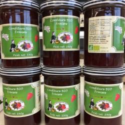 Confiture bio à la fraise
