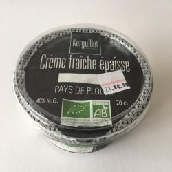 Crème fraîche bio à 40 % de MG