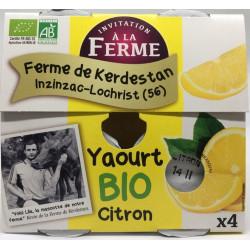 Yaourt bio au citron